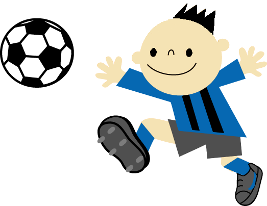 サッカー(髪型少なく、目を縦長に)