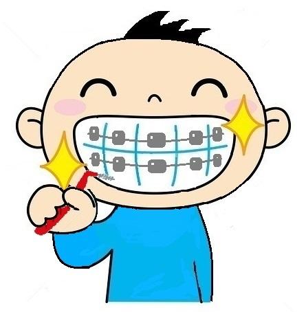 矯正装置+歯間ブラシ(